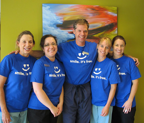 Tahoe Oral Surgery staff who volunteered during Denstiry for the Heart Day