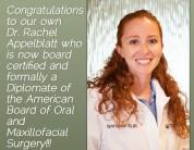Congrats Dr. Appelblatt, Diplomate, American Board of Oral & Maxillofacial Surgery