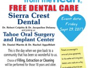 Free Tooth Extractions, Fillings and Cleanings for Community Members in Need – September 29th, 2017